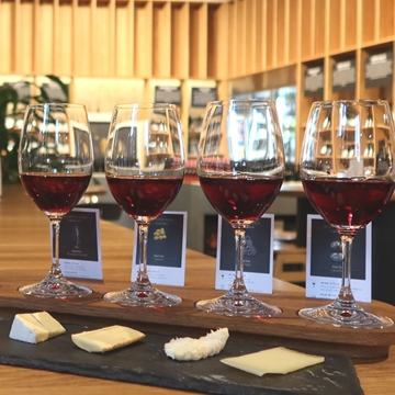 Picture of Iron Fist Velvet Glove Wine & Cheese Flight