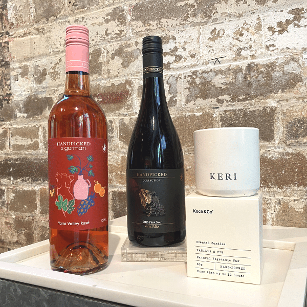 Mother Day Gift Pack 2 includes a bottle of Yarra Valley Collection a free candle and a bottle of Gorman Yarra Valley Rose