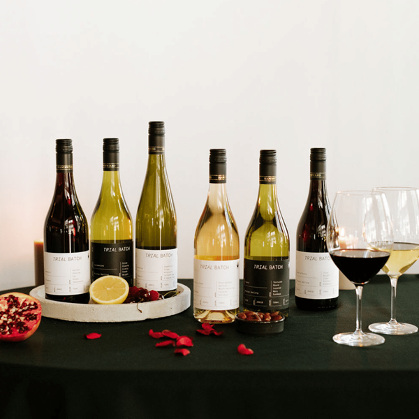 Six Handpicked wine bottles from the Trial Batch range