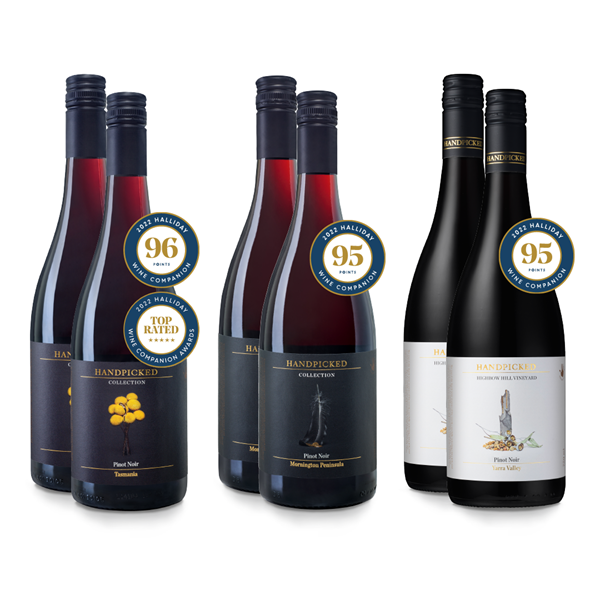 6 bottles of pinot noir with halliday scores