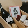 Prosecco and cheese gift box with packaging with same day delivery in Sydney