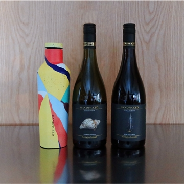 Two bottles front view of Handpicked Collection Mornington and an eco canteen