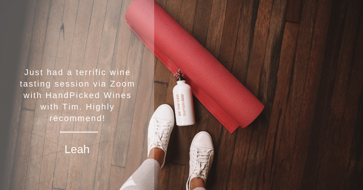 Yoga session with wine